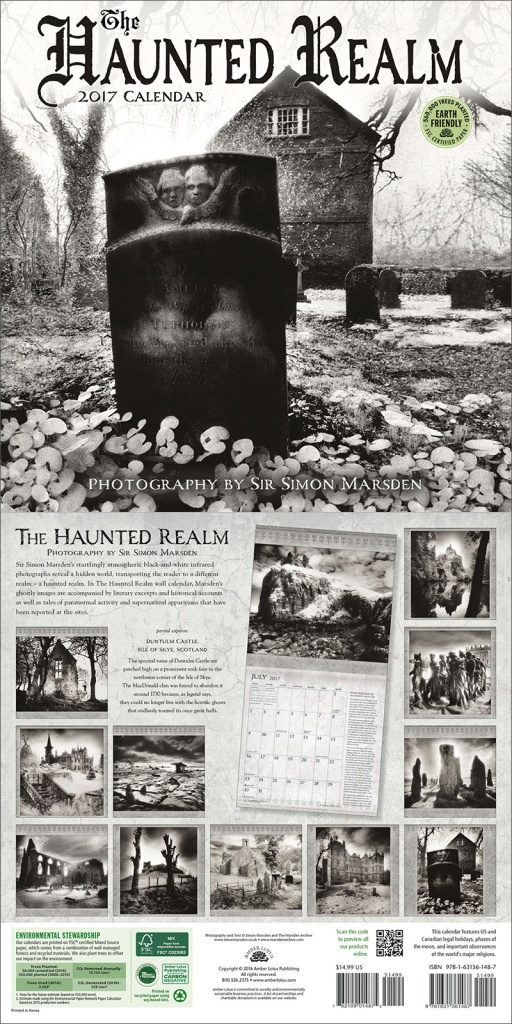 Haunted Realm 2017 wall calendar by Amber Lotus