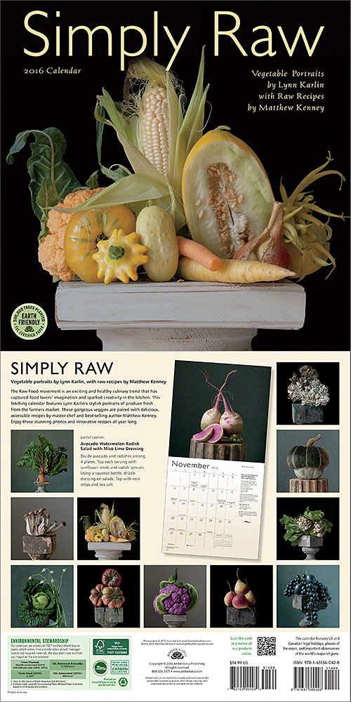 Simply Raw 2016 wall calendar