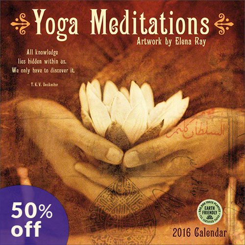 Yoga Meditations 2016 wall calendar