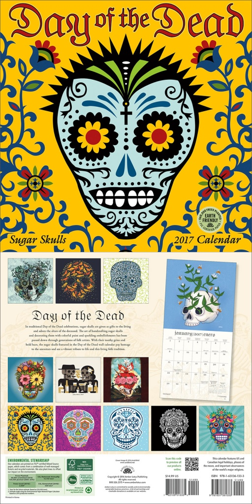Day of the Dead 2017 wall calendar by Amber Lotus Publishing