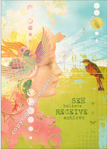 See Believe greeting card by Duirwaigh Studios