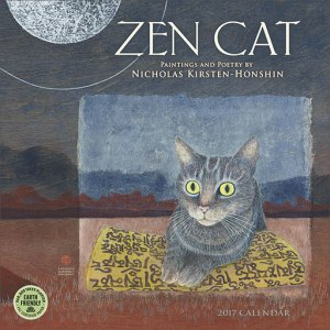 Zen Cat wall calendar