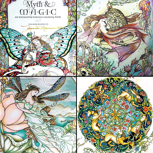 Myth and Magic coloring examples